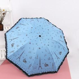 遮阳伞学生男女防紫外线折叠雨伞三太阳伞