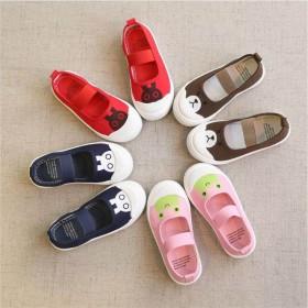 女童帆布鞋2019春夏新款学生低帮一脚蹬布鞋小童鞋