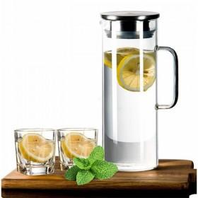 买壶送2杯家用耐热玻璃冷水壶高温防爆凉水壶扎壶套装