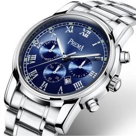 超薄男士钢带石英表日历手表男表皮带防水男士腕表