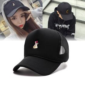 黑色帽子女学生夏天遮阳鸭舌帽男网帽防晒棒球帽