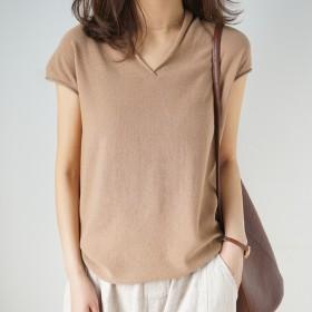 短袖女t恤精梳棉半袖新款