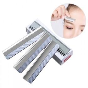 10片装 专业修眉刀片化妆师专用不锈钢刮眉刀修眉套