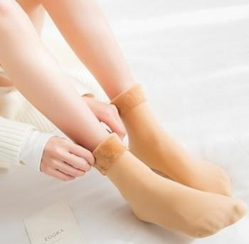 秋冬季雪地袜地板袜男女短袜子成人月子袜毛巾袜