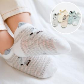 【5双装】夏季网眼薄款宝宝袜全棉透气儿童袜子