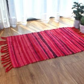 纯棉布条手工编织地毯卧室厨房飘窗卫生间浴室门口地垫