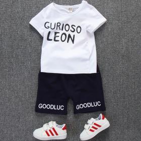 男童韩版纯棉短袖套装 品牌童套装