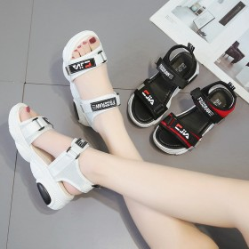 运动小熊鞋底凉鞋女夏季新款韩版厚底魔术贴松糕沙滩鞋