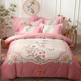 全棉四件套纯棉床单被套简约网红超柔