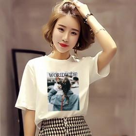 T恤女装短袖2019新款潮半袖