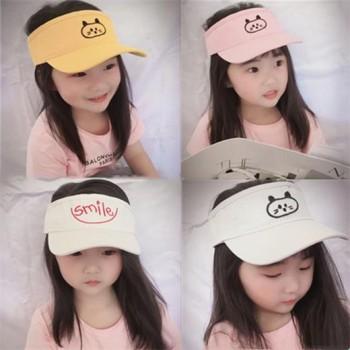 儿童帽子男女韩版百搭黑色棒球帽明星同款笑脸情侣四季