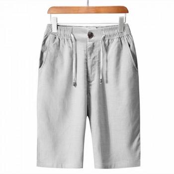 新款亚麻休闲短裤大码