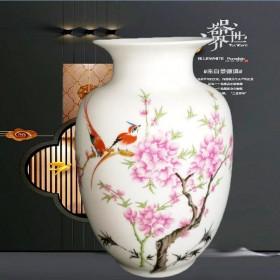 小花瓶陶瓷器摆件日用台面酒柜博古架电视柜插花客厅