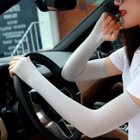 防晒手套女防紫外线薄加长款夏季冰丝护手臂冰爽袖套