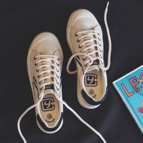浅口帆布鞋女夏季薄款透气软底小众复古港味网红小白鞋