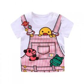 夏季纯棉男童短袖t恤衫2019时尚中小儿童衣服女装