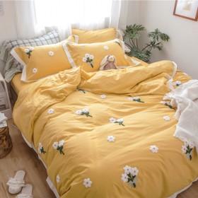 【清仓价】水洗棉毛巾绣刺绣四件套【床笠加20】