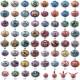 罗布水晶变身器男童奥特曼套装玩具组合变形人偶  2195665