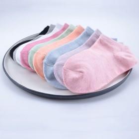 女士夏季棉袜船袜浅口袜韩版纯色女袜