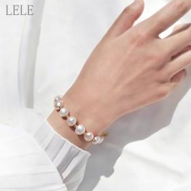 纯天然珍珠手链 有配珠宝礼盒