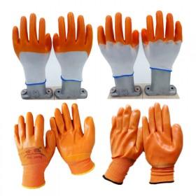 世鹏pvc劳保挂胶加厚牛筋手套耐磨防滑浸胶手套