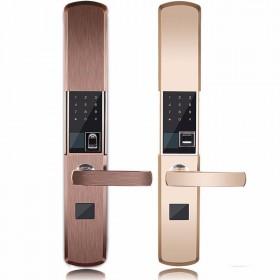 家用防盗门入户门智能指纹锁宾馆酒店电子密码锁滑盖