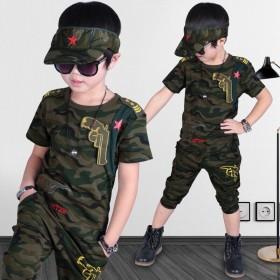 童装男童夏装迷彩套装2019新款3儿童4韩版5运动