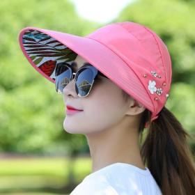 帽子女夏天休闲出游防紫外线韩版夏季可折叠防晒太阳帽