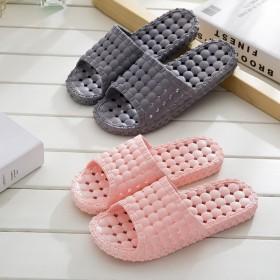 浴室拖鞋女夏季防滑洗澡漏水塑料家居情侣居家室内厚软