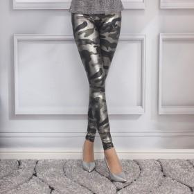 时尚女裤修身显瘦弹力亮面小脚裤百搭打底裤