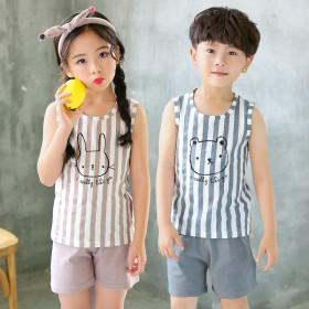 儿童背心纯棉男童夏装跨栏无袖T恤外穿中大童男孩女孩