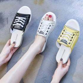 真皮半拖鞋女夏季2019新款包头休闲外穿拖鞋板鞋