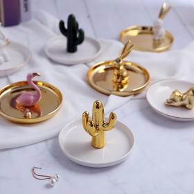 耳环展示架子饰品收纳盒北欧家用项链戒指珠宝ins首