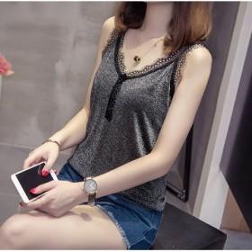 【80-200斤】女装蕾丝花边V领吊带背心打底衫