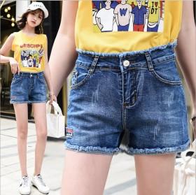 卷边女士牛仔短裤女2019新款夏季外穿百搭潮高腰显