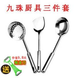 不锈钢锅铲套装厨房炒菜铲子家用汤勺漏勺厨具套装
