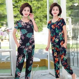 夏季韩版中老年人两件衣服