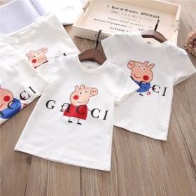 纯棉女童短袖新款中小童夏装男童半袖夏季上衣儿童t恤