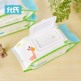 婴儿柔湿巾100抽6大包带盖湿巾纸宝宝湿纸巾