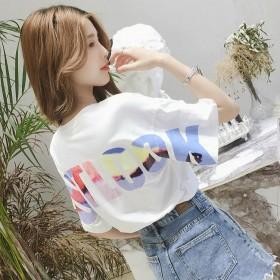 短袖t恤女2019新款春夏季韩版时尚学生宜搭上衣