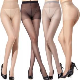 两双装简单包装夏季女士超薄加裆防脱丝连裤袜