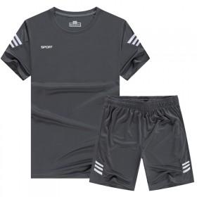 运动套装男夏季薄款速干短袖宽松短裤健身跑步衣服