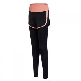 瑜伽裤子紧身弹力高腰假两件短裤