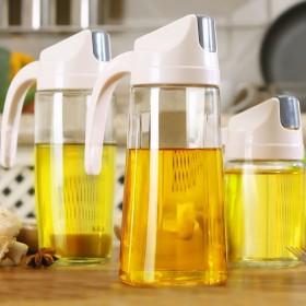 油瓶玻璃防漏家用厨房回流翻盖油壶调味酱油瓶装油罐