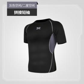 健身房运动衣服男夏天早上晨跑步紧身速干衣T恤