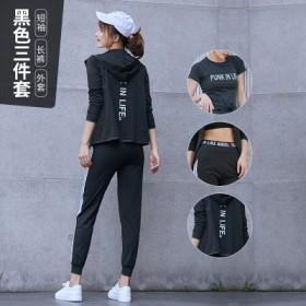 运动健身套装女春夏2019新款跑步锻炼瑜伽三件套