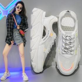 运动风凉鞋女 韩版松糕跟厚底网红女鞋 透气老爹鞋
