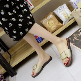 夏季女2019新款凉拖鞋外穿时尚防滑软底低跟一字型