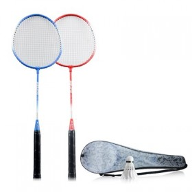 【杰灵】羽毛球拍一对送拍包+羽毛球