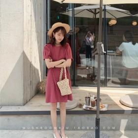 金蘑菇菇 西柚汽水桑葚果酱 简约系带连衣裙